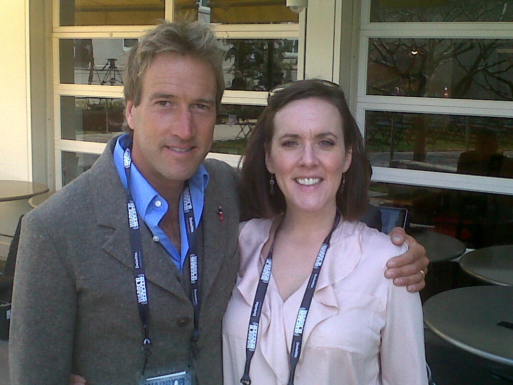 With Ben Fogle covering Prince Harry's tour of America, May 2013